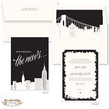 wedding invitations nyc nyc skyline wedding invitations lovelybylela