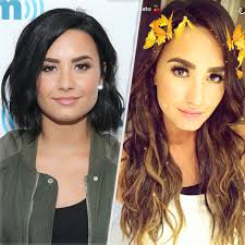 cool long hair demi lovato adds 15 inches of extensions gets highlights people com