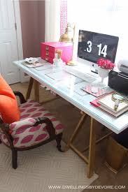 Diy Office Desk Accessories by Pretty Desk Saw Horses 23 Each At Home Depot Would Spray Paint