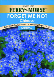 forget me not seed packets ferry morse forget me not seeds annual garden