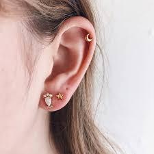 earrings on ear white opal pearl diamond earrings studs affordable