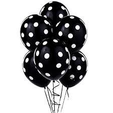 black balloons 12 black and white polka dot balloons toys
