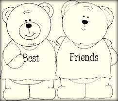 best friend coloring pages color zini