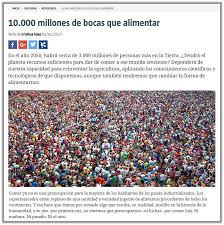 Challenge La Vanguardia 10 Billion Mouths To Feed Center For Research In Agricultural