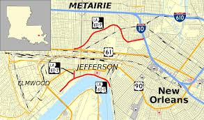 New Orleans Street Map Pdf by Louisiana Highway 611 Wikipedia