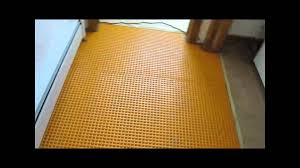Kitchen Floor Tile by Kitchen Floor Tile Installed On A Diagonal Over Schluter Ditra