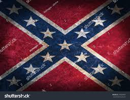 Flag Confederate Old Rusty Metal Sign Flag Confederate Stock Photo 240029836