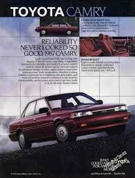 toyota camry reliability toyota camry reliability never looked so 1987 ours was
