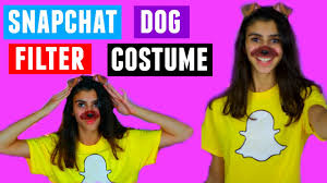 diy snapchat dog filter halloween costume youtube