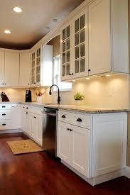 birch wood light grey shaker door white kitchen cabinets