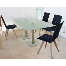Frosted Glass Dining Room Table Uv Bonded Stainless Steel Fitting Large Glass Dining Table