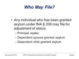 january 20 2010 asylum based form i 485 application to register