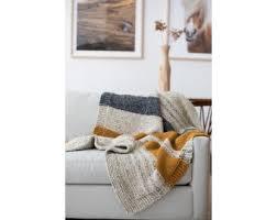 knit kit simple striped afghan knit kits kits brand yarn