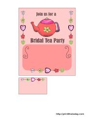 free printable bridal shower tea party invitations free printable bridal shower tea party invitations