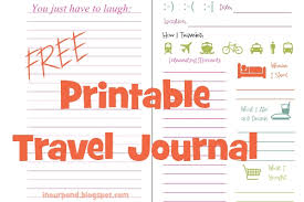 printable vacation journal pages printable travel journal in our pond