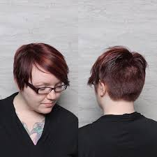 hairstyles glasses round faces short red pixie haircut for round faces