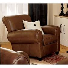 Pottery Barn Leather Pottery Barn Manhattan Leather Recliner Polyvore