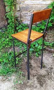 Metal And Wood Bar Stool Buy Hand Made Urban Style Reclaimed Wood Bar Stools With