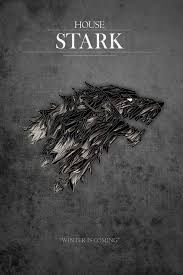 online shop game of thrones house stark of winterfell silk poster