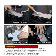 taidea sharpener double sided diamond bench whetstone knife