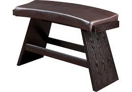 noah chocolate bench benches dark wood