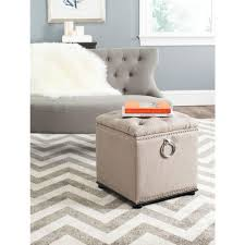 Safavieh Amelia Tufted Storage Ottoman Safavieh Amelia Antique Sage Storage Ottoman Hud8220w The Home Depot
