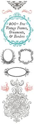 200 free vintage ornaments frames and borders scrap booking