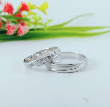 cincin emas putih cincin emas putih dan palladium permata tabur