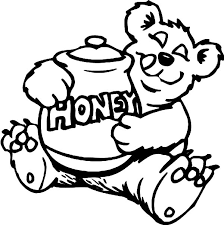 happy honey bear colouring page colouring tube