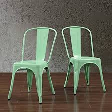 Tabouret Bistro Chair Tabouret Bistro Steel Side Dining Chairs Hint Of Mint