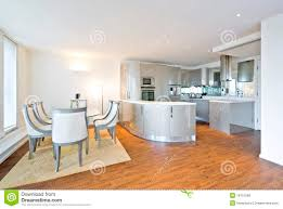 kitchen dining room ultra modern designer kitchen with dining area royalty free stock