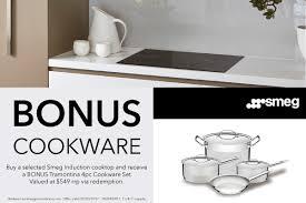 Smeg Induction Cooktops Smeg 90cm Induction Cooktop Sai95 Bonus Cookware Bonus Offer