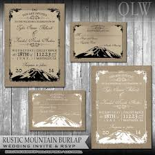 mountain wedding invitations rustic mountain chalkboard wedding invitation suite scenic