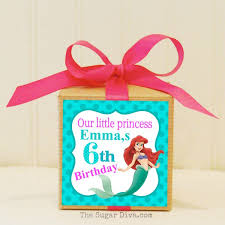 personalized favor boxes personalized favors ariel party mermaid the sea
