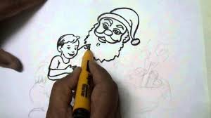 santa claus giving gifts easy drawing youtube
