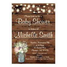 Rustic Invitations Rustic Baby Shower Invitations U0026 Announcements Zazzle