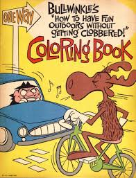 bullwinkle coloring book vintage coloring books pinterest