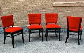 Red Dining Chair 1940 U0027s Dining Chairs Cityfoundry