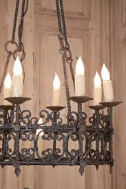 vintage country french wrought iron chandelier vintage wrought