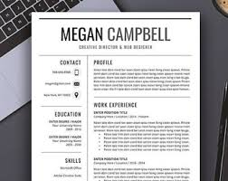 Word For Mac Resume Templates Resume Template Cv Template Word For Mac Or Pc