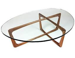 Walnut And Glass Coffee Table Karl Coffee Table With Walnut Base And Glass Top In Midcentury