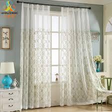 voilage pour chambre fenêtre rideau voilage rideau floral broderie tulle linge tissus