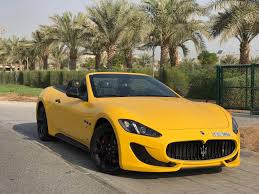 maserati yellow carhire24 uae