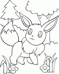 pokemon pictures eevee kids coloring
