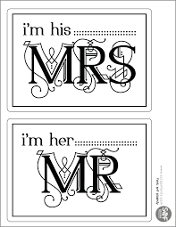 Wedding Signs Template 4 Best Images Of Mr And Mrs Wedding Signs Printables Free Mr