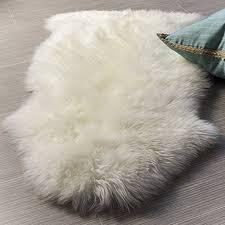 tappeti di pelliccia pelliccia sintetica tappeto vello di pecora 75 x 120 cm con