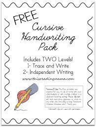 free cursive handwriting worksheets cursive handwriting cursive