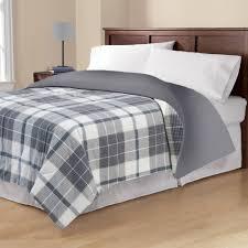 Twin Plaid Bedding by Mainstays Flannel Comforter Walmart Com