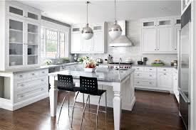 Marble Floors Kitchen Design Ideas Contemporary Kitchen Design Classic Furniture Black Appliances
