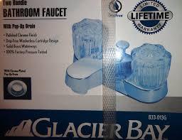 glacier bay two handle bathroom faucet touch on bathroom sink